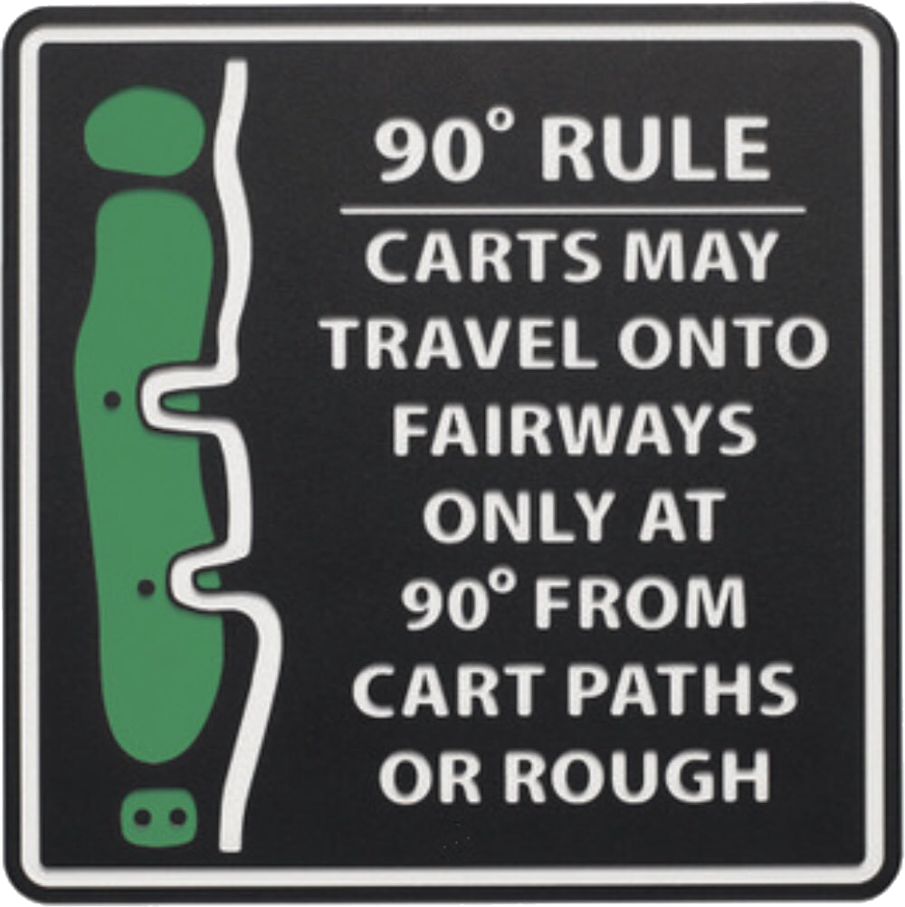 90 degree cart rule sign transp