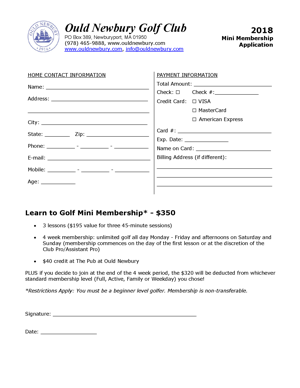 2018 Mini Membership Application RevA small